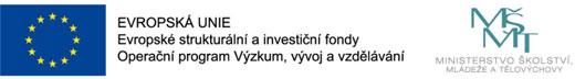 Realiziváno za porpory: Evropská unie - Evropské strukturální a investiční fondy, Operační program Výzkum, vývoj a vzdělání. Ministerstvo ěkolství, mládeže a tělovýchovy.